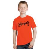 Youth Orange T Shirt-Script Bengals