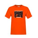 Youth Orange T Shirt-Idaho State Block