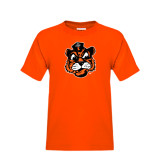 Youth Orange T Shirt-Vintage Mascot Head