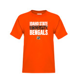 Youth Orange T Shirt-Idaho State University Bengals Stacked