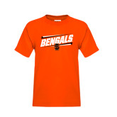 Youth Orange T Shirt-Idaho State University Bengals Stacked