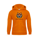 Youth Orange Fleece Hoodie-Softball