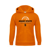 Youth Orange Fleece Hoodie-Volleyball Ball Design