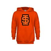 Youth Orange Fleece Hoodie-Interlocking IS - Two Color