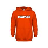 Youth Orange Fleece Hoodie-Bengals Wordmark