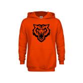 Youth Orange Fleece Hoodie-Primary Athletics Mark - One Color