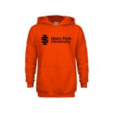 Youth Orange Fleece Hoodie-Institutional Mark
