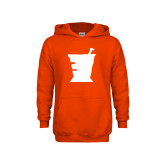 Youth Orange Fleece Hoodie-College of Pharmacy Mortar