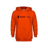 Youth Orange Fleece Hoodie-College of Pharmacy Flat