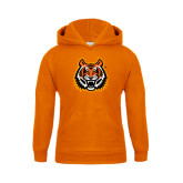 Youth Orange Fleece Hoodie-Bengal Head