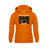 Youth Orange Fleece Hoodie-Idaho State Block