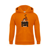 Youth Orange Fleece Hoodie-Baby Bengal Stacked