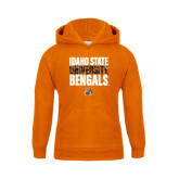Youth Orange Fleece Hoodie-Idaho State University Bengals Stacked