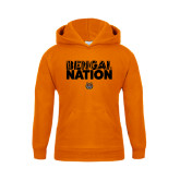 Youth Orange Fleece Hoodie-Bengal Nation