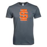 Next Level SoftStyle Charcoal T Shirt-Interlocking IS