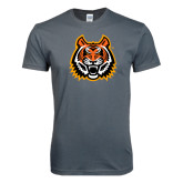 Next Level SoftStyle Charcoal T Shirt-Bengal Head