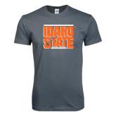 Next Level SoftStyle Charcoal T Shirt-Idaho State Block