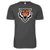 Next Level SoftStyle Charcoal T Shirt-Primary Athletics Mark