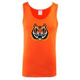Orange Tank Top-Bengal Head