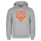Grey Fleece Hoodie-Primary Athletics Mark - One Color