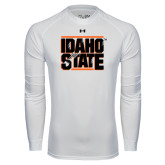 Under Armour White Long Sleeve Tech Tee-Idaho State Block
