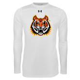 Under Armour White Long Sleeve Tech Tee-Bengal Head