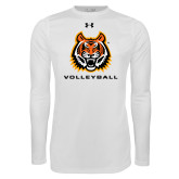 Under Armour White Long Sleeve Tech Tee-Sport 3