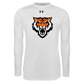 Under Armour White Long Sleeve Tech Tee-Primary Athletics Mark