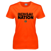 Ladies Orange T Shirt-Bengal Nation