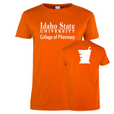 Ladies Orange T Shirt-Idaho State University College Pharmacy