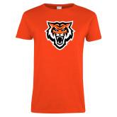 Ladies Orange T Shirt-Primary Athletics Mark