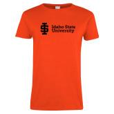 Ladies Orange T Shirt-Institutional Mark