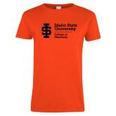 Ladies Orange T Shirt-College of Pharmacy