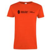 Ladies Orange T Shirt-College of Pharmacy Flat