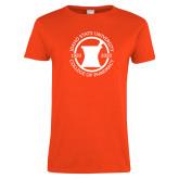Ladies Orange T Shirt-Pharmacy Seal