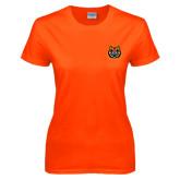 Ladies Orange T Shirt-Bengal Head