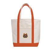 Contender White/Orange Canvas Tote-Bengal Head