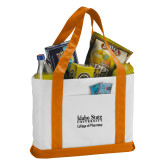 Contender White/Orange Canvas Tote-Idaho State University College Pharmacy
