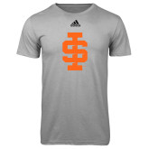 Adidas Climalite Sport Grey Ultimate Performance Tee-Interlocking IS