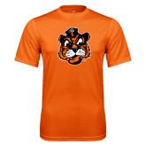 Performance Orange Tee-Vintage Mascot Head