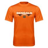 Performance Orange Tee-Football Ball Design