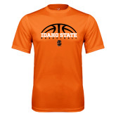 Performance Orange Tee-Basketball Ball Design