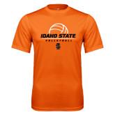 Performance Orange Tee-Volleyball Ball Design