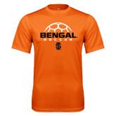Performance Orange Tee-Soccer Ball Design