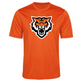 Performance Orange Heather Contender Tee-Primary Athletics Mark