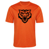 Performance Orange Heather Contender Tee-Primary Athletics Mark - One Color