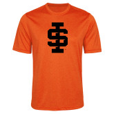 Performance Orange Heather Contender Tee-Interlocking IS