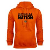 Orange Fleece Hoodie-Bengal Nation