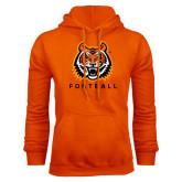 Orange Fleece Hood-Football