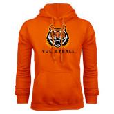 Orange Fleece Hood-Volleyball